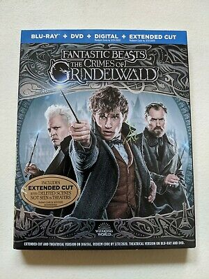 Fantastic Beasts The Crimes Of Grindelwald Blu-Ray+DVD+Digital+Extended Cut NEW