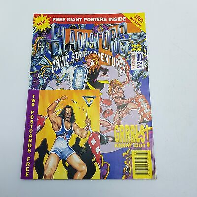 Gladiators Comic Strip Adventure Magazine #2 1993 LWT inc Poster & Postcards