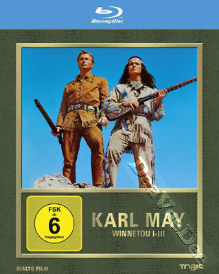 Karl May Collection 3 Neuf Classique Western Blu-Ray 3 Disques Ensemble L.Barker