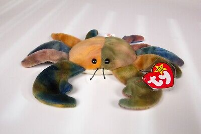 1996 CRAB CLAUDE STYLE 4083 PVC PELLETS NMWT NWT TY ORIGINAL BEANIE BABY