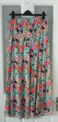 Heavenly Bump Maternity Tropical Floral Print Summer Wide Leg Trousers Size 12