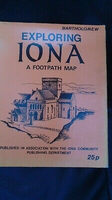 Rare Bartholomew Iona Footpath Map based Ordnance Survey 1900 Card Cover
