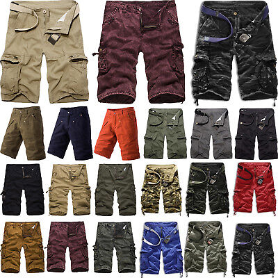 Men's Cargo Shorts Combat Military Army Half Pants Cargo Work Summer Trousers