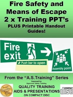 Health & Safety PowerPoint Training Fire Safety/Means Escape Plus PDF Guide 2019