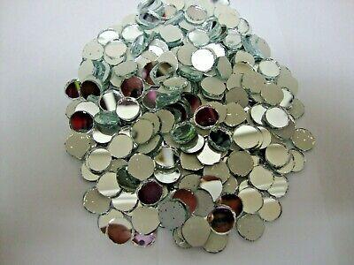 100 # Silver Mirror Glass, Round Shaped approx 8 mm for embroidery.