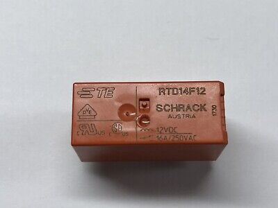TYCO RT424F12 QTY 5PCS Bistable 2coils latching DPDT 16A Power Relay,DC12V