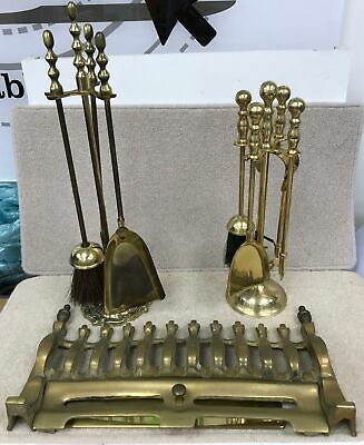 Job Lot/Collection Of Brass Includes Fireplace Fender/Grill + Accessories #387