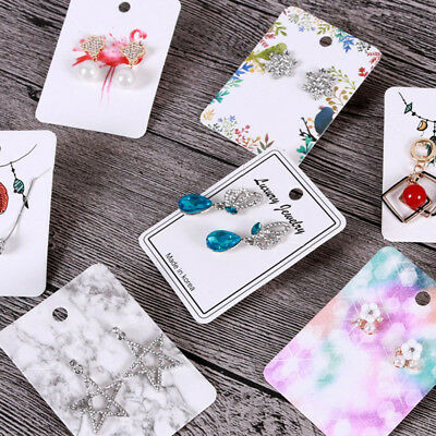 100x Earring display paper holder hanger cards tags craft market jewellery DIY#E