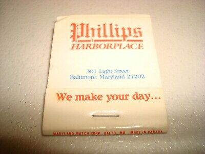 Rare Vintage Matches Phillips Harbor Place Baltimore Maryland USA Original!