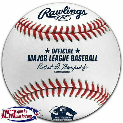 Joe Mauer Minnesota Twins MLB #7 Retirement Logo Rawlings Baseball Boxed