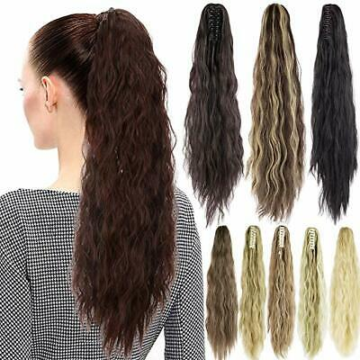 Women's Synthetic Wavy Ponytail Long Curly Pony Tail Clip In Hair Extensions NEW