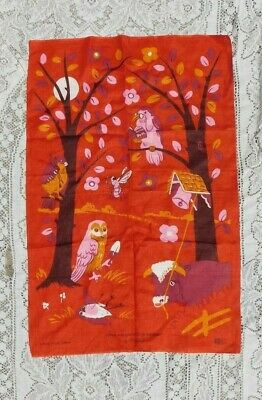 Vintage 1960's Irish Linen Who Killed Cock Robin ? By Blackstaff Kitchen Towel