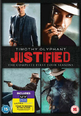 Justified - Complete Series 1-4 NEW PAL Cult 12-DVD Set T. Olyphant W. Goggins