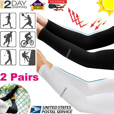 UV Arm Sleeves For Men Women Cooling Sleeves Cover UPF 50 Sun Protection 2 Pairs