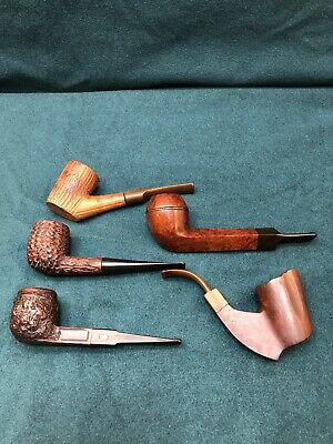 Vintage Lot Of 5 Tobacco Pipes Whitehall Carey Weber #3