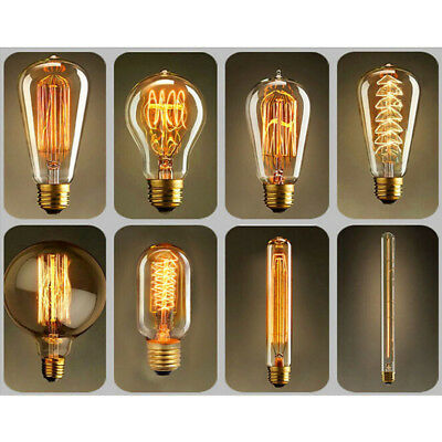 Vintage Antique Style Bulbs Edison Industrial Filament Light Bulb E27 AB Sales