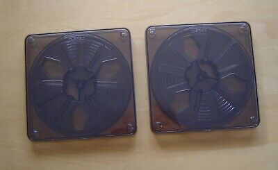Set of 2 - 400 ft Reels (Spools) and cans, for 8mm Cinefilm, Made In Australia