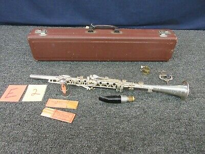 Cundy Bettoney Co Three Star Silver Metal Clarinet USA Vintage Woodwind