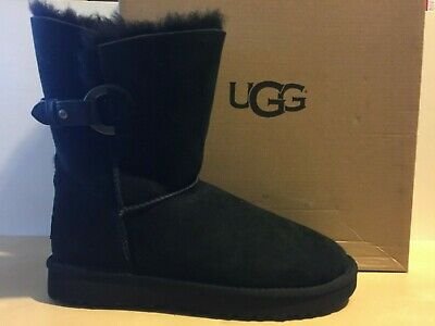 12c1aec227a UGG AUSTRALIA NASH Grey Brown Suede Shearling BUCKLE BOOTS US 7 38 I ...