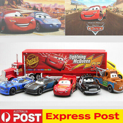 Cars 3 Lightning McQueen Racer Car&Mack Truck Collection 7PCS Set Gift Toys HOT