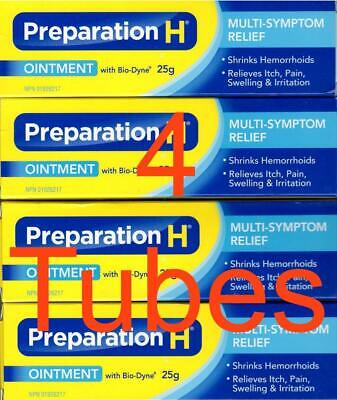 🇨🇦Preparation H CANADIAN Ointment with Bio - Dyne 4 Tubes 25g from Canada