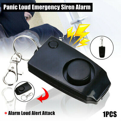 Loud  Panic Self Alarm  Device  Safety  Alert Attack  Anti-rape  Keychain