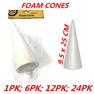 Styrofoam Cones Craft Polystyrene Shape Form Foam Decorating Modelling Art Large