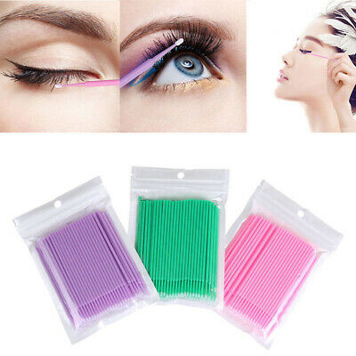400Pcs Disposable Eyelash Swab Applicator Micro Brush Mascara Tool Extension GN