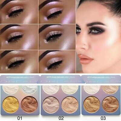 Profess Womens Face Highlighter Bronzer Palette Eyeshadow Contour Makeup Powder