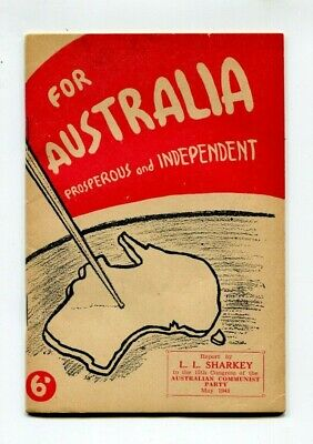 Political pamphlet  Australian Communist Party 1948
