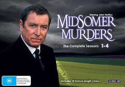 Midsomer Murders (Complete Seasons 1-4) NEW PAL 10-DVD Box Set Peter Smith
