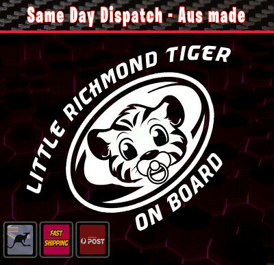 Little Richmond Tiger On Board - baby on Board White AFL Decal