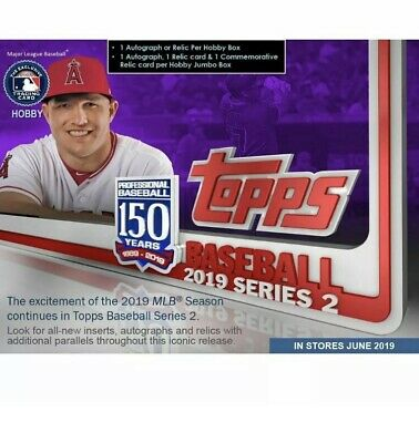 2019 Topps Series 2 Baseball Factory Sealed Hobby Box w/ 1 Silver Pack