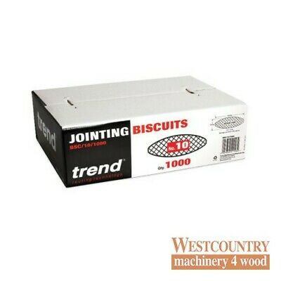 TREND BSC/10/1000 BISCUITS for Biscuit Jointer Size 10 box of 1000
