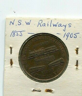 Medallion New South Wales Railways 1855 - 1905