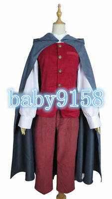 COSplay Lord of the Rings Hobbit the King Elessar Costume Suit Outfit Full Set