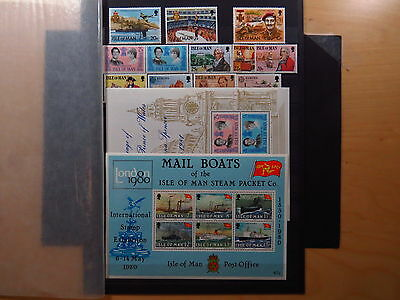 Small Collection Stamps Timbres Isle of Man Mann 1977 1978 1979 1980 1981