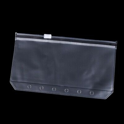 A7 Transparent Traveler Notebook Diary Planner Zipper Bag Filing Products