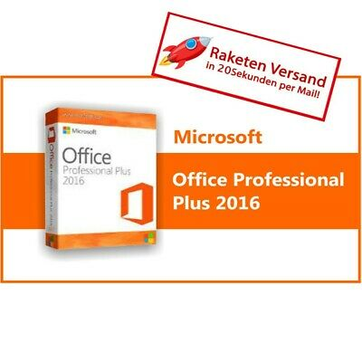 Microsoft Office Professional Plus 2016 Key Vollversion inkl Download 19%Rech.