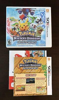 Pokemon Mystery Dungeon Nintendo 3DS Replacement Case, Inserts, Artwork ONLY!