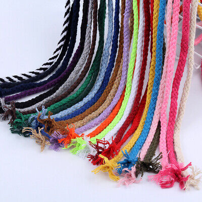 5mm Macrame Rustic 90m Rope Colorful Cotton Twisted Cord String DIY Hand Craft #
