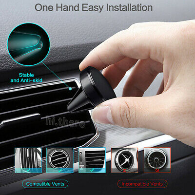 Universal Car Air Vent Mount Phone Holder Dock Magnetic Stand for Cell Phone GPS