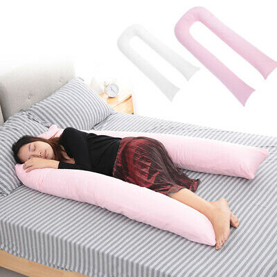9 FT Long U Shaped Long Cuddle Maternity Pregnancy Support Pillow Cover UK Stock