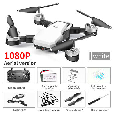 Drone Quadricotterofpv Camera Real Time Wifi 1080P Portatile Ricaricabile Bianco