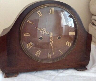Vintage Smiths Enfield Mantle Clock Spares Or Repairs