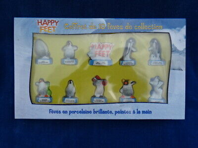 TOP COFFRET DE FEVES / Beans box - HAPPY FEET - PINGOUIN / Penguin
