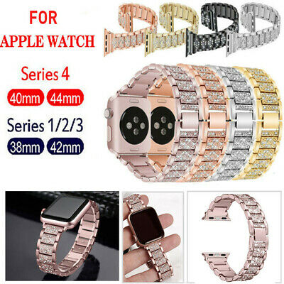 38/42MM 40/44MM Bling Stainless Steel iWatch Band Strap For Apple Watch 4 3 2 1