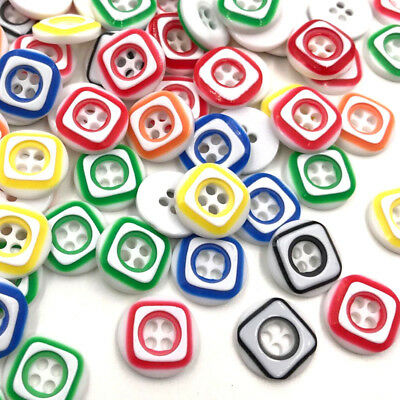 50/100pcs Mixed Colors Round Plastic Buttons Lot 13MM Craft Sewing DIY PT144
