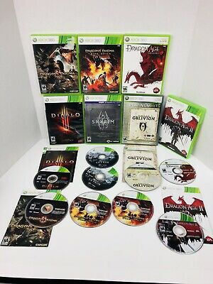 Lot of RPG Role Playing Xbox 360 Games Skyrim Oblivion Dragon Age Dragons Dogma
