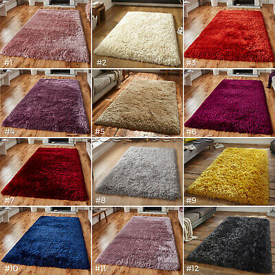 SMALL - LARGE SUPER SOFT LUXURY 8.5cm LONG PILE COLOURFUL DENSE SHAGGY POLAR RUG